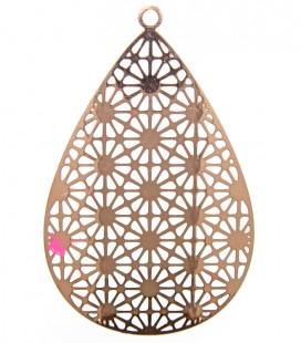Filigrana Goccia 35x22 mm colore Oro Rosa