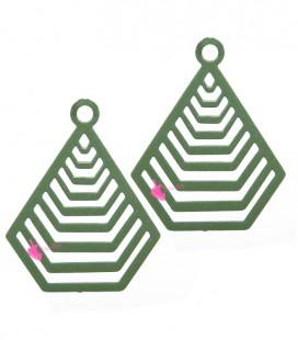 Filigrana Piramide 20x16 mm Verde Militare