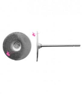 Perni per Orecchini con Piastra 8 mm Acciaio Inossidabile (100 pezzi)