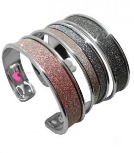 Kit Bijoux Bracciale Effetto Glitter Vari Colori