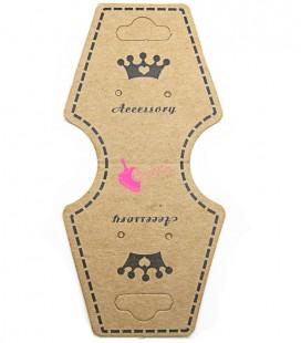 Espositore Carta per Bijoux con Coroncina (10 pezzi)