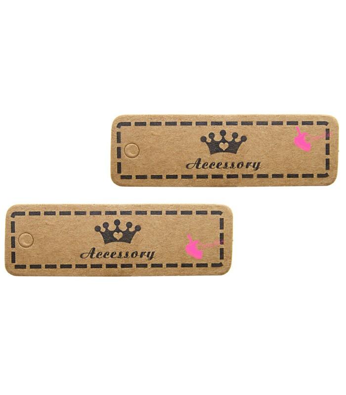 Super Cartellino Targhetta Bijoux con Coroncina per Prezzi, Codice, Nome DU99