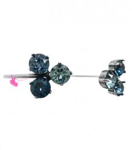 Esempio Kit Bijoux Luxury Bracciale Aperto con 6 Chaton Swarovski® SS39 colore Argento Antico
