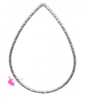 Elemento Goccia Diamantata 43x31 mm colore Acciaio