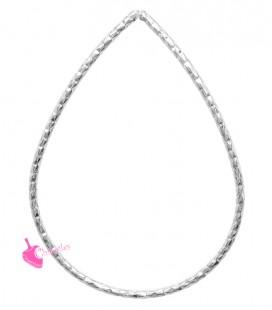 Elemento Goccia Diamantata 43x31 mm colore Argento