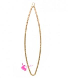 Elemento Ovale Diamantato Effetto Glitter 61x14 mm colore Oro Rosa
