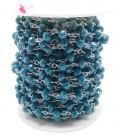 Catena Rosario con Rondelle 6 mm Mezzo Cristallo colore Blu (50 cm)