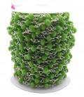 Catena Rosario con Rondelle 6 mm Mezzo Cristallo colore Verde (50 cm)