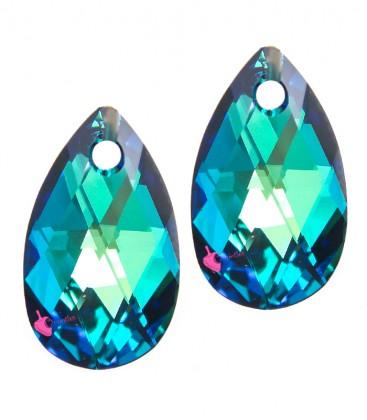 Ciondolo Goccia Swarovski® 6106 16 mm Crystal Bermuda Blue (2 pezzi)