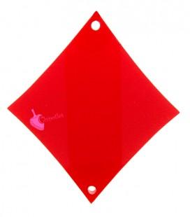 Ciondolo Seme di Quadri Carte da Poker 40x36 mm Plexiglass Rosso