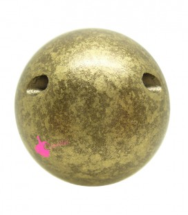 Perla 25 mm Resina Oro Antico Metallizzato