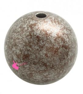 Perla 25 mm Resina Bronzo e Argento Metallizzato