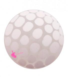 Perla Disco Pois 30 mm Resina Rosa Pastello Effetto Ghiaccio