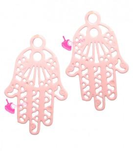 Ciondolo Filigrana Mano di Fatima 17x11 mm colore Rosa
