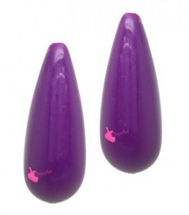 Perla Goccia con Foro Passante 34x13 mm Resina colore Viola