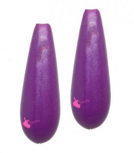 Perla Goccia con Foro Passante 28x10 mm Resina colore Viola