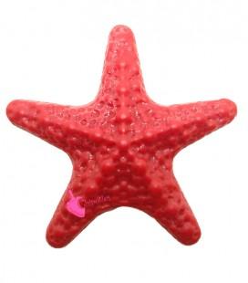 Perla Stella Marina Grande Resina 50x52 mm color Rosso Corallo
