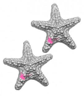 Perla Stella Marina Resina 31x33 mm color Argento Glitter