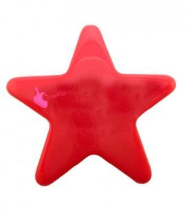 Perla Stella con Foro Passante 39x42 mm Resina colore Rosso