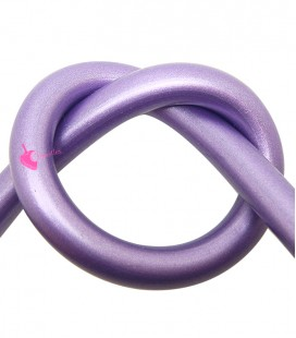 Cordoncino PVC 8 mm Forato colore Viola Metallizzato (50 cm)