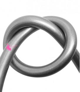 Cordoncino PVC 8 mm Forato colore Grigio Metallizzato (50 cm)