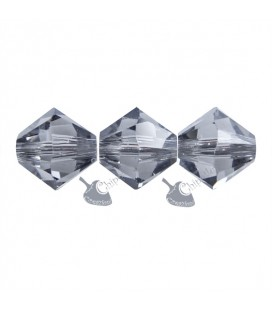 Biconi Swarovski® 5328 6 mm Black Diamond 215