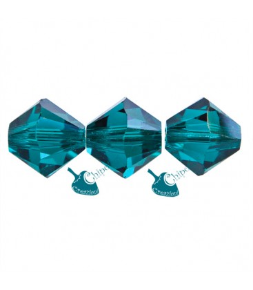 Biconi Swarovski® 5328 6 mm Emerald 205