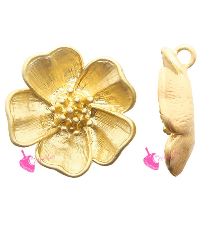 /20/mm Piccolo multicolore fiore spilla in metallo color oro/