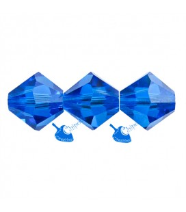Biconi Swarovski® 5328 6 mm Capri Blue 243 (30 pezzi)