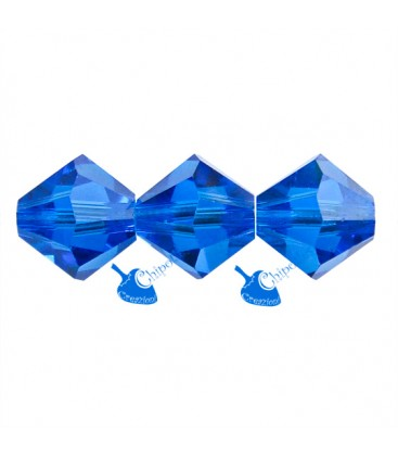 Biconi Swarovski® 5328 6 mm Capri Blue 243