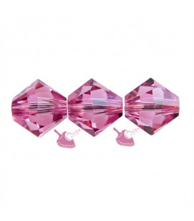 Biconi Swarovski® 5328 6 mm Rose 209