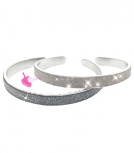 Kit Bijoux Bracciale Effetto Glitter 5 mm Vari Colori