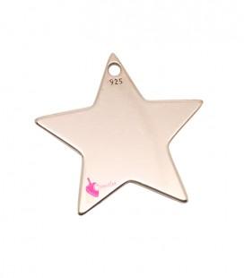 Ciondolo Stella 15x16 mm Argento 925 Placcato Oro Rosa