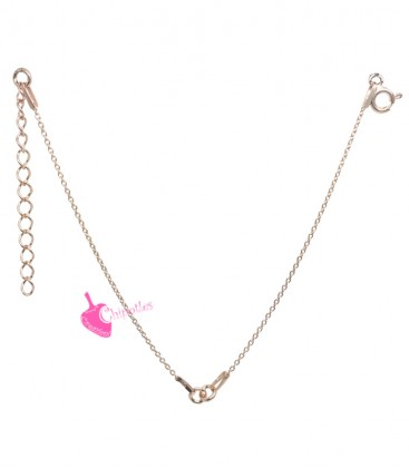 Base Bracciale per Ciondolo o Connettore Lunghezza 20 cm Argento 925 Placcato Oro Rosa