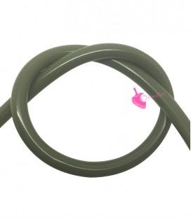 Cordoncino PVC Verde Oliva 4 mm Forato (1 metro)