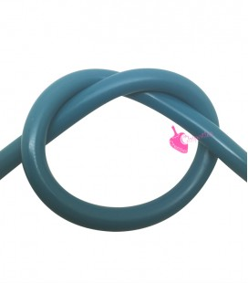 Cordoncino PVC Azure Blue 4 mm Forato (1 metro)