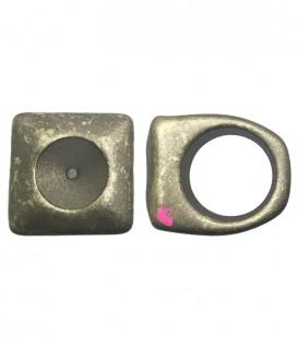 Anello in Resina per Rivoli Swarovski 12 mm Oro Metallizzato