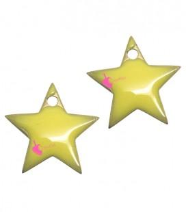 Ciondolo Stella Smaltata 11x12 mm colore Giallo