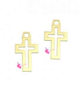 Ciondolo Croce 12x7 mm colore Oro