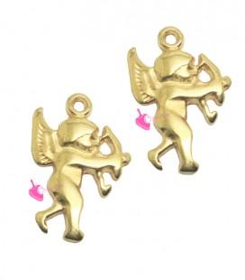 Ciondolo Cupido 19x13 mm colore Oro
