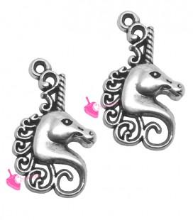 Ciondolo Unicorno 26x15 mm colore Argento Antico