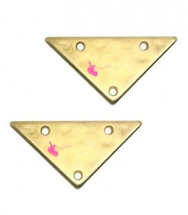 Ciondolo Triangolo con 3 Fori 13x25 mm colore Oro