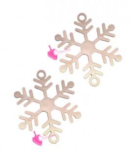 Connettore Filigrana Fiocco di Neve 18x15 mm colore Oro Rosa
