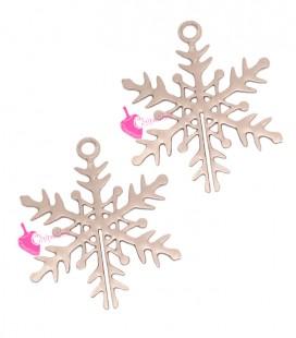 Ciondolo Filigrana Fiocco di Neve 16x13 mm colore Oro Rosa