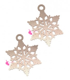 Ciondolo Filigrana Fiocco di Neve 20x17 mm colore Oro Rosa