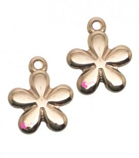 Ciondolo Fiorellino 13x11 mm colore Oro Rosa