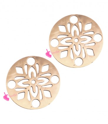 Ciondolo Medaglia Fiocco di Neve 14 mm colore Oro Rosa