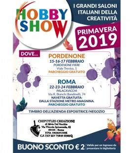 Sconto HOBBY SHOW Febbraio 2019
