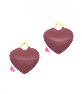 Ciondolo Cuore Smaltato 10x9 mm Rosso