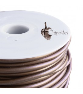 Cordoncino PVC 4 mm Forato Color Cioccolato Metallizzato (1 metro)